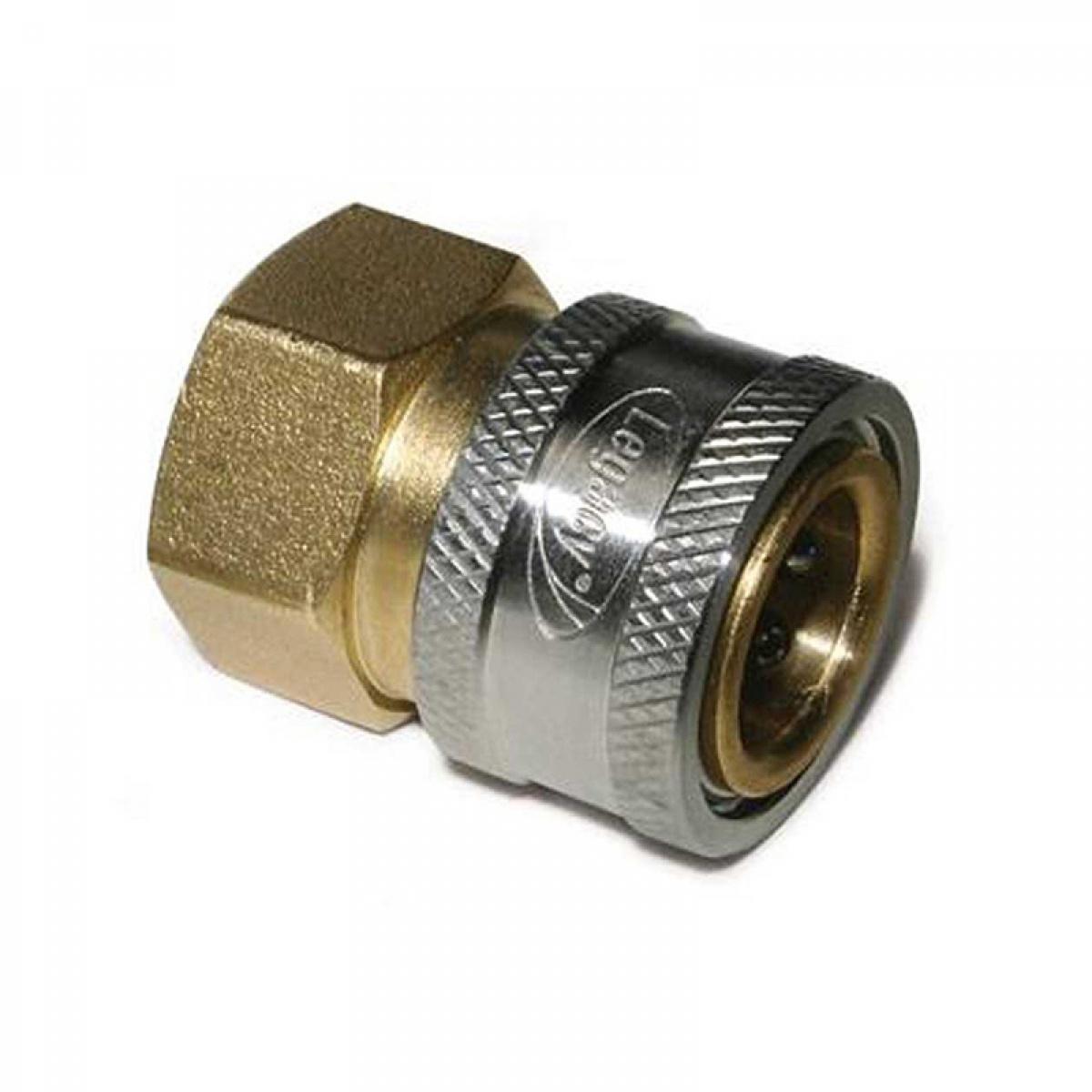 """Coupler, 1/4""""socket, Female, Brass"""