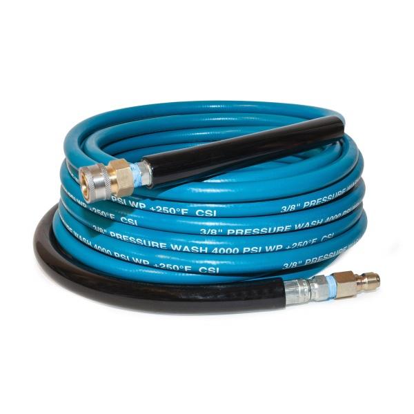 "Hose Blue With Coupler 3/8""x100' 4k Psi"