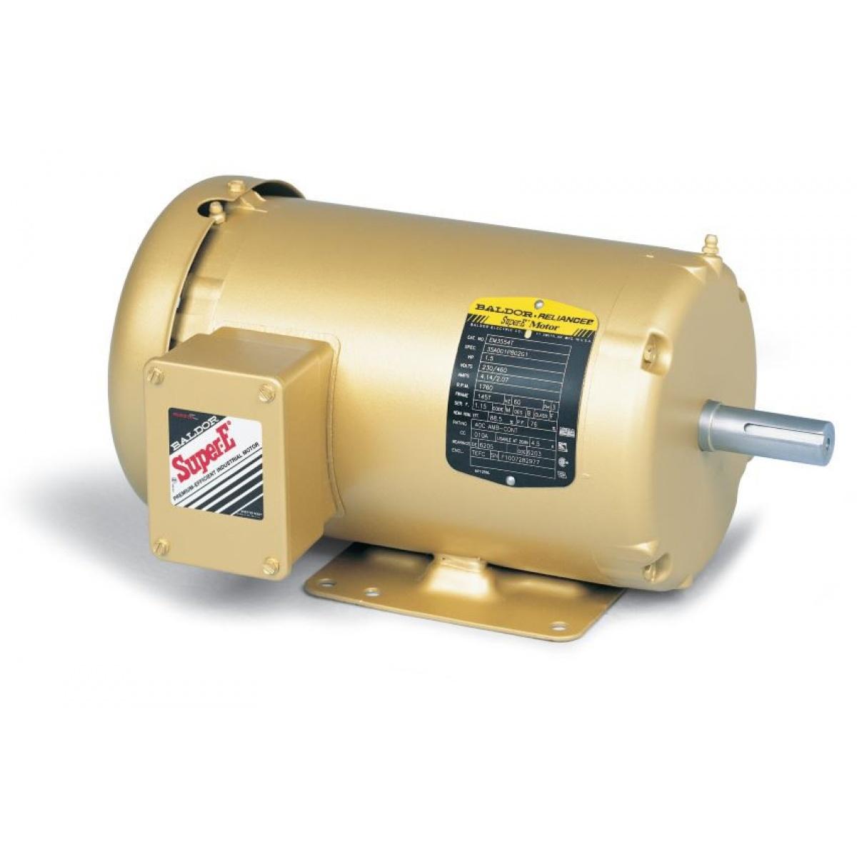 Motor, 10hp 3ph 230/460v, 1800rpm, Tefc,