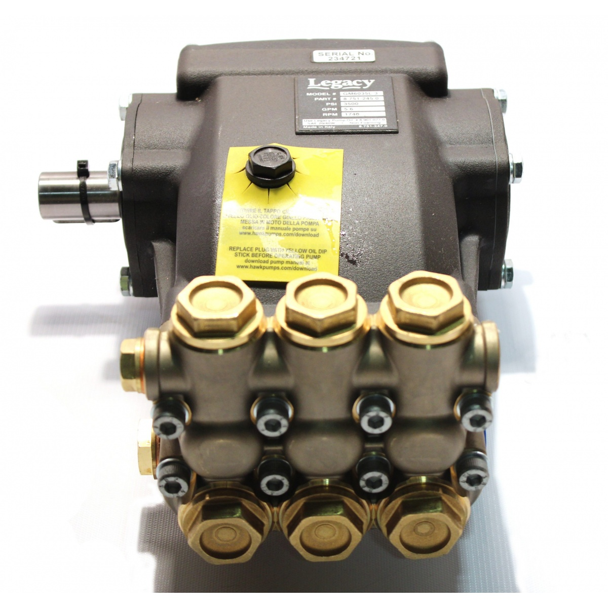 Pump, Legacy Gm6035l.3, 5.6@3500 1740 Rp