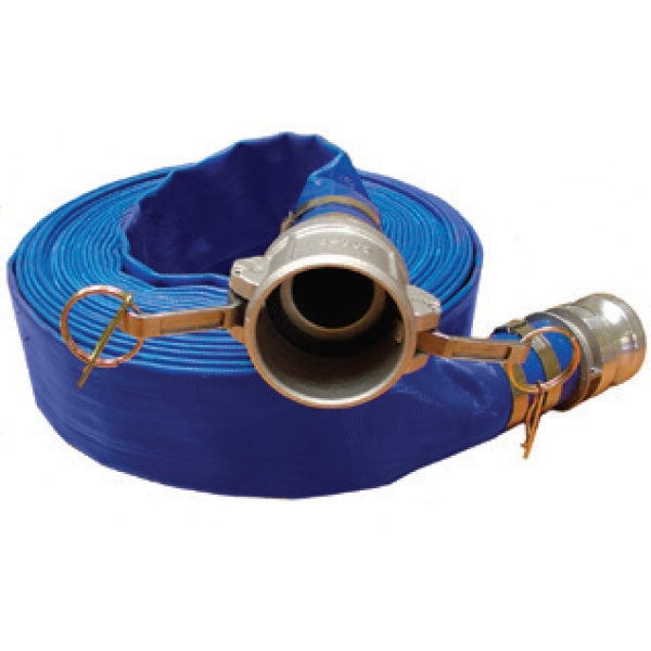 Discharge Hose with Aluminum Couplers