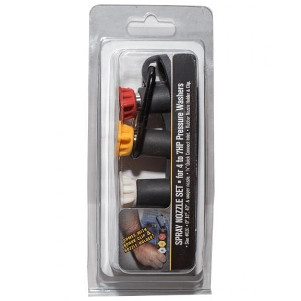 Q/C Nozzle Set w/ Holder & Clip (3.0 GPM)